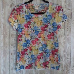 Sundance Floral Print T-shirt Sz. S